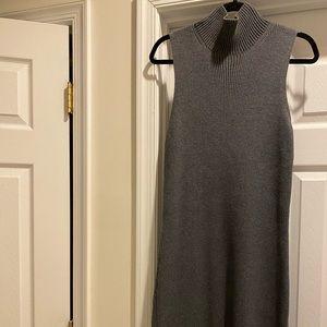 Grey Sleeveless Sweaterdress